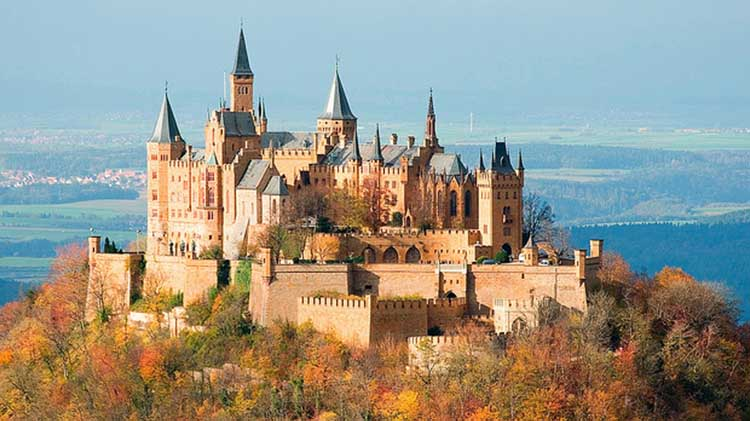 Hohenzollern Castle Shooting Stars Evening