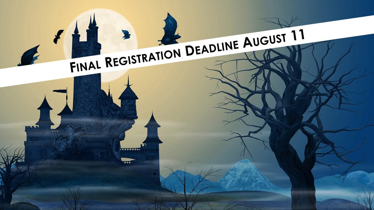 Registration Deadline for Halloween in Transylvania