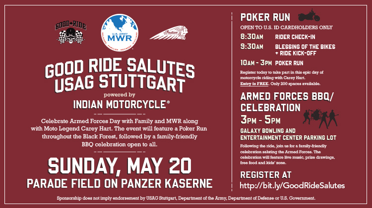 The Good Ride Salutes USAG Stuttgart powered by Indian Motorcycle