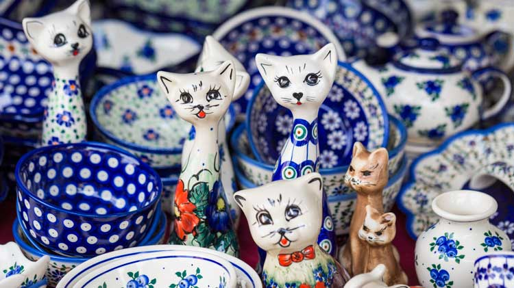 Polish Pottery and Dresden